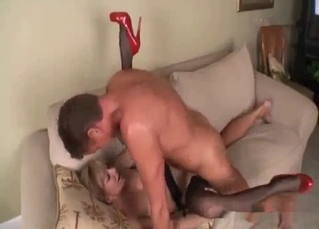 High-heeled blonde sister adores dirty incest