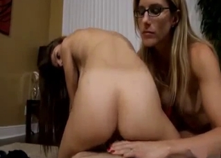 Mom teacher her stepdaughter how to ride a dick