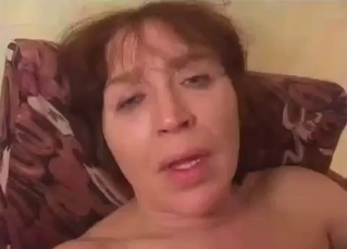 Mom with saggy boobs banged by her own son