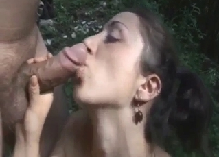 Big-boobed sister enjoys daddy's hard sausage