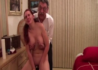 Busty stepdaughter and perverted stepfather