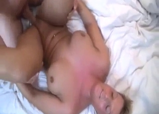 Dirty sex action with a toned stepsister