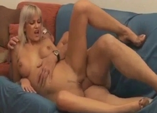 Dirty amateur incest with a big-boobed stepdaughter