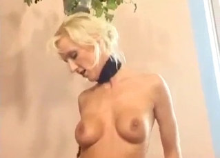 Big-boobed blonde slut sucks her horny brother