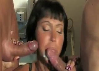 Anal mom is enjoying hardcore incest with sons
