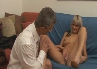 Rich father and his dick-swallowing stepdaughter