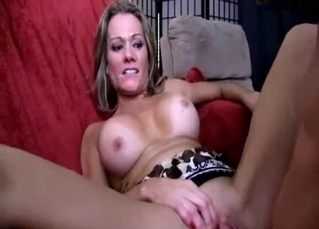 High-heeled MILF cheat on her hubby with her son