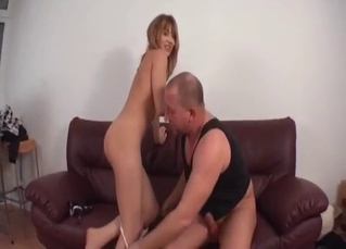 Big-tit sister is sucking like a professional