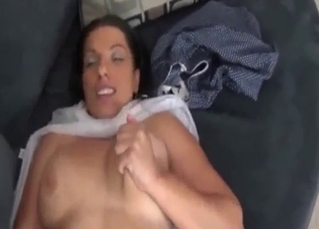 Big-boobed brunette MILF enjoys filthy incest fuck