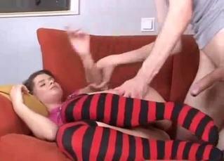 Uncle with huge dick bangs his niece