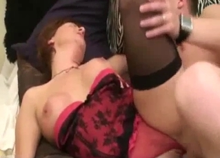 Fake-boobed mommy is enjoying filthy incest