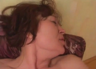 Mom slut bangs with her son in missionary pose
